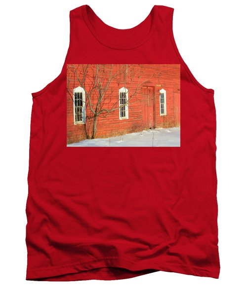 Tank Top featuring the photograph Barnwall In Winter by Rodney Lee Williams