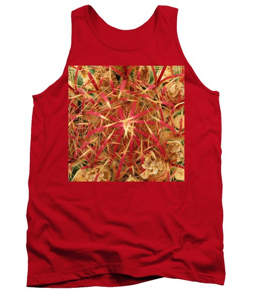 Tank Top featuring the photograph Barrel Cactus by Laurel Powell