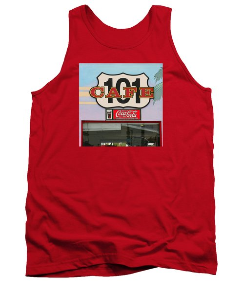 Beach Cafe Tank Top by Art Block Collections