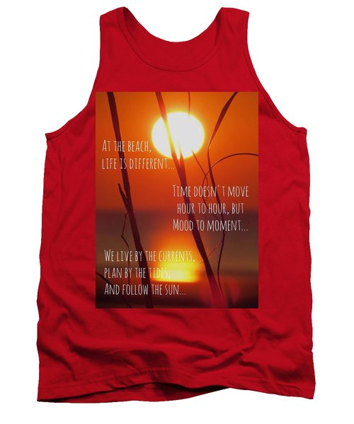 Tank Top featuring the photograph Beach Quote by Nikki McInnes