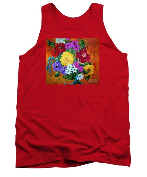Tank Top featuring the painting Beauties In Bloom by Eloise Schneider