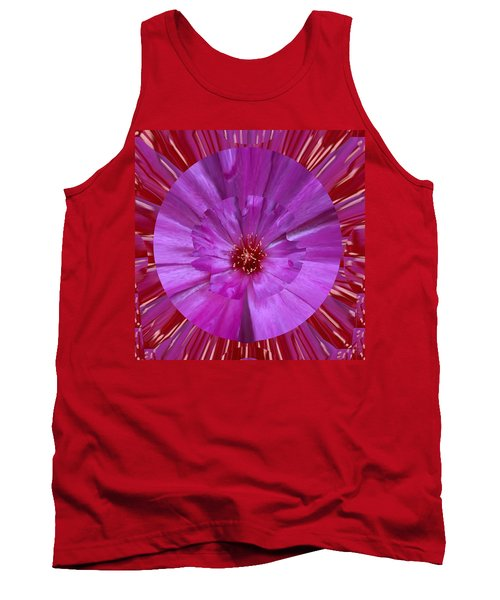 Beautiful Purple Wild Cactus Flower Art Placed On Signature Style Luxury Patterns Designed By Navinj Tank Top
