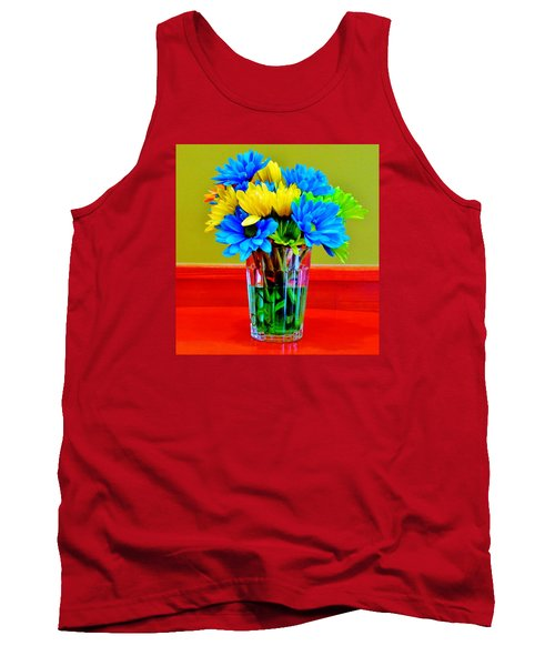 Beauty In A Vase Tank Top by Cynthia Guinn