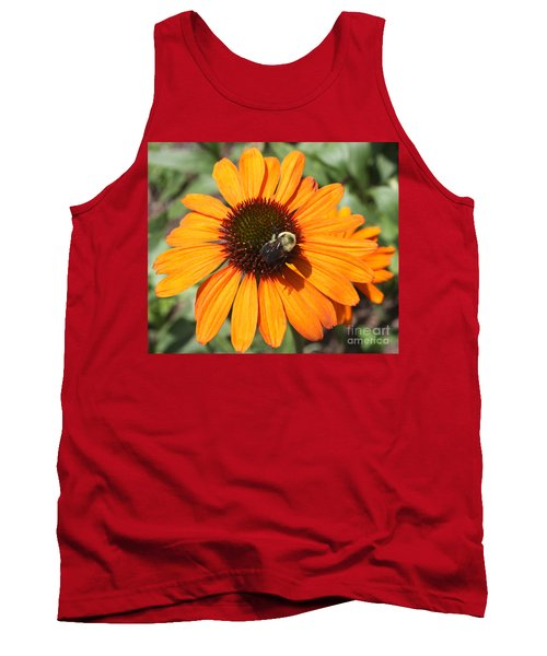 Tank Top featuring the photograph Bee On Flower by John Telfer