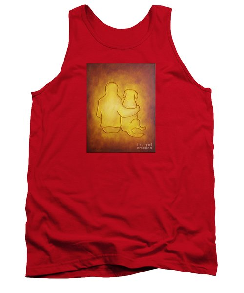 Being There 2 - Dog And Friend Tank Top