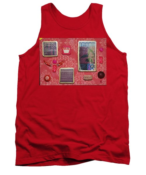Believe Collage Tank Top