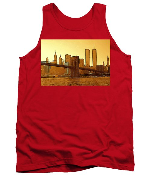 New York City - Big Apple Sunrise Tank Top