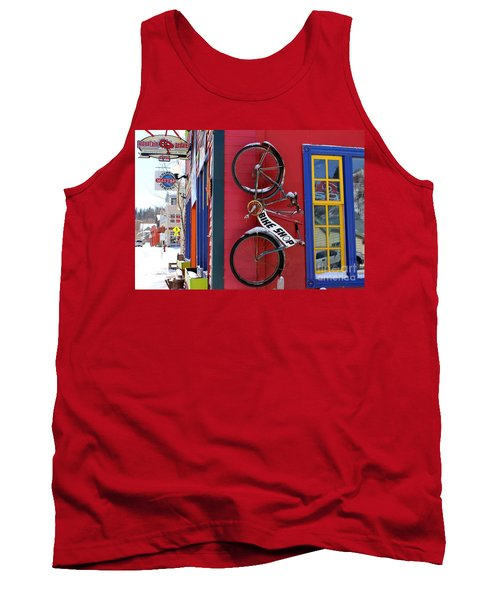 Bike Shop Tank Top by Fiona Kennard