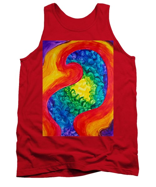 Tank Top featuring the painting Bird Form II by Michele Myers