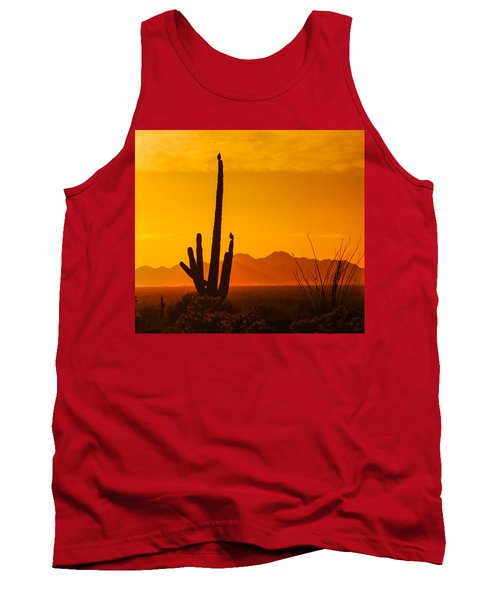 Birds In Silhouette Tank Top