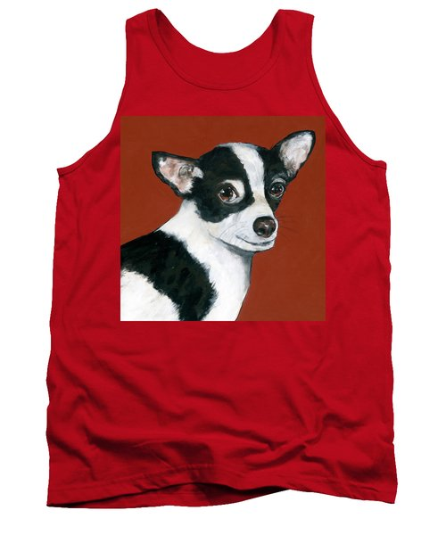 Black And White Chihuahua Tank Top