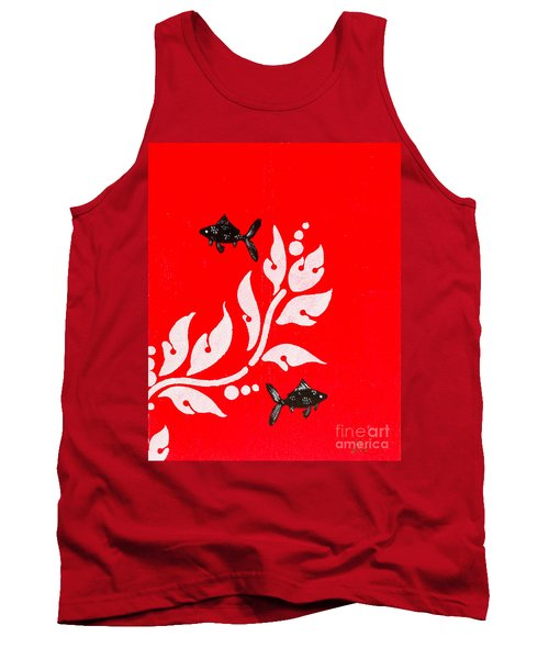 Black Fish Left Tank Top by Stefanie Forck