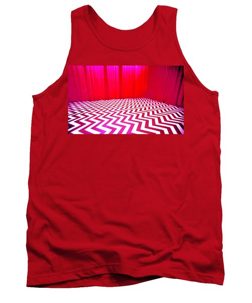 Black Lodge Magenta Tank Top
