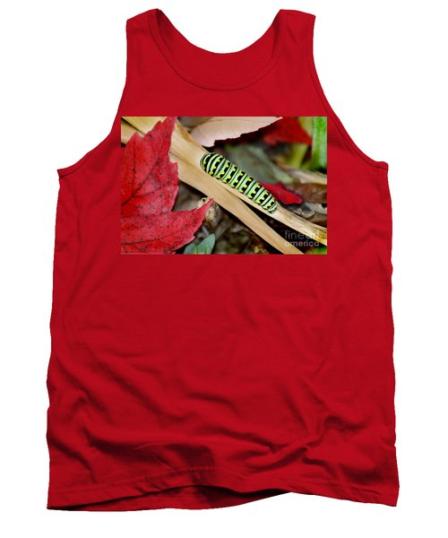 Black Swallowtail Butterfly Caterpillar Tank Top