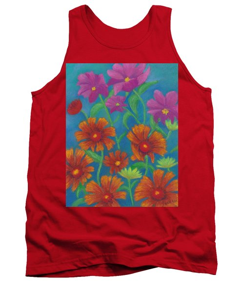 Blanket Flowers And Cosmos Tank Top