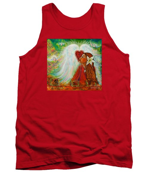 Tank Top featuring the painting Blessed Visit  by Deborha Kerr