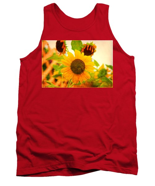 Blossoming Sunflower Beauty Tank Top by Toni Hopper