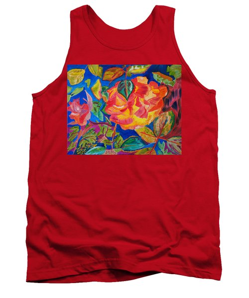 Tank Top featuring the painting Blossoms Aglow by Meryl Goudey
