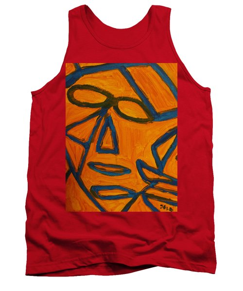 Blue And Orange Tank Top