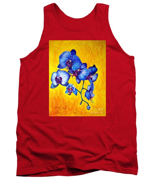 Blue Orchids 1 Tank Top