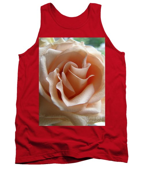 Blushing Rose Tank Top by Margie Amberge