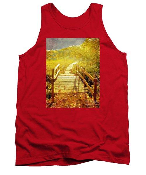 Bridge Into Autumn Tank Top by Janette Boyd