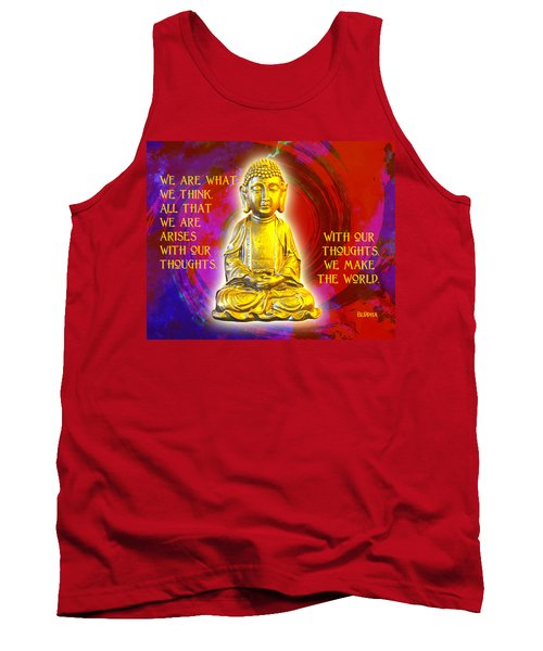 Tank Top featuring the photograph Buddha's Thoughts 2 by Ginny Gaura