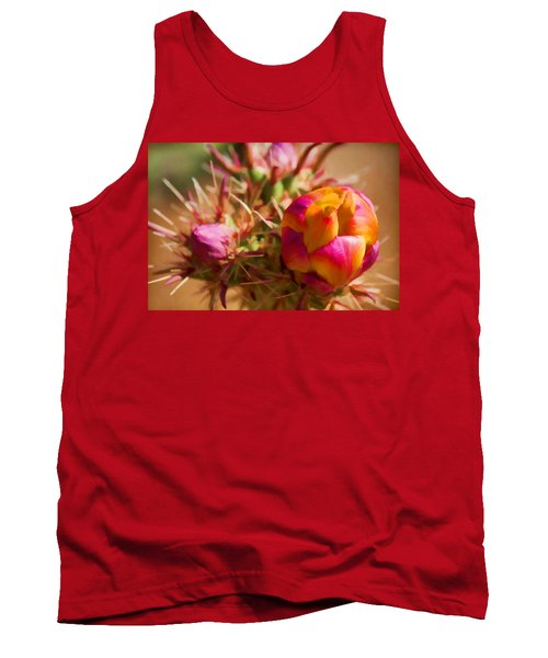 Budding Cactus Tank Top by Fred Larson