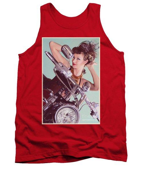 Burlesque Biker -portrait Tank Top
