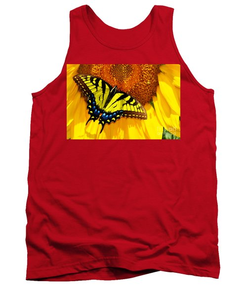 Butterfly And The Sunflower Tank Top
