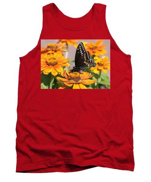 Butterfly In Living Color Tank Top by Greg Graham