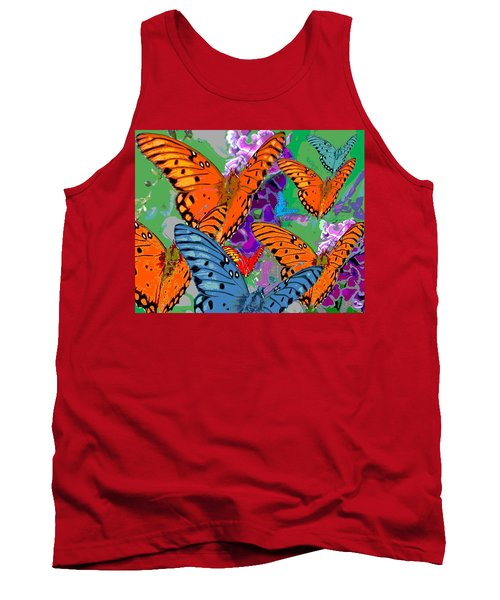 Tank Top featuring the digital art Butterfly Joy by Mary Armstrong