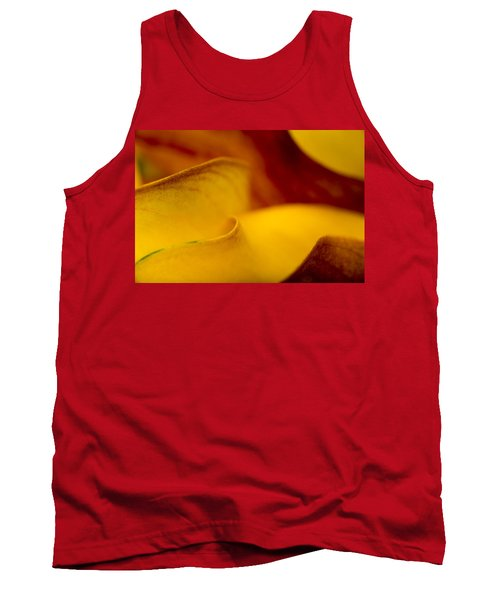 Tank Top featuring the photograph Calla Lily Waves by Sebastian Musial