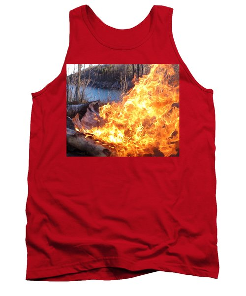 Tank Top featuring the photograph Campfire by James Peterson