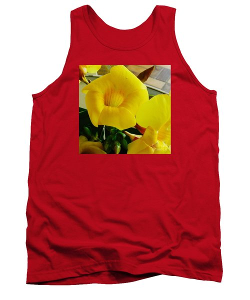Canario Flower Tank Top by The Art of Alice Terrill