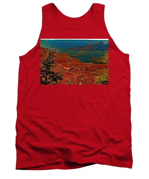 Canyon Colours Show Through Tank Top by Jim Hogg