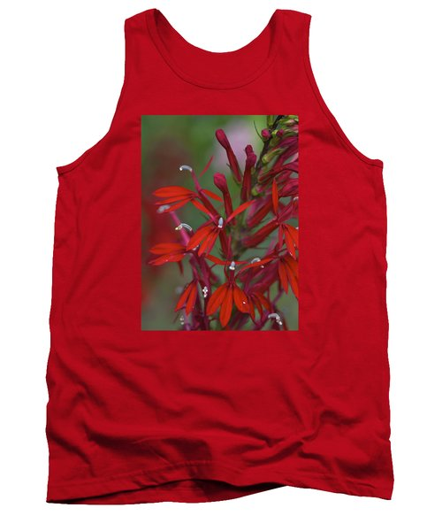 Tank Top featuring the photograph Cardinal Flower by Jane Eleanor Nicholas
