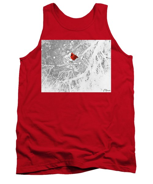 Cardinal In Winter Tank Top