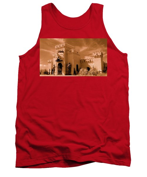 Tank Top featuring the photograph Castle By The Road by Rodney Lee Williams