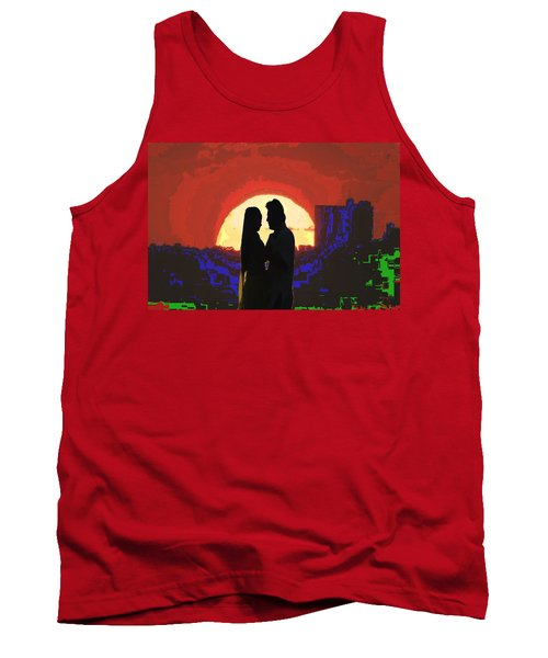 Cave Style Shadow Art  Dream Arched Getaway To Other World  Love Romance Taboo Society Reltionships  Tank Top