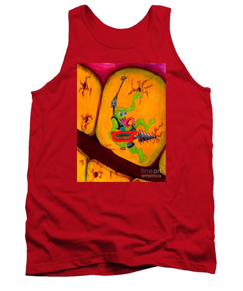 Tank Top featuring the drawing Cavity Creep by Justin Moore