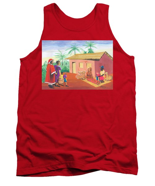 Celebration Of The Nativity In Cameroon Tank Top by Emmanuel Baliyanga