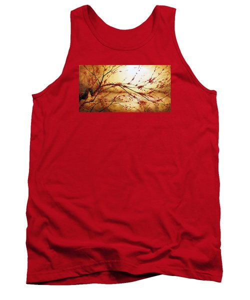 Cerezo Iv Tank Top by Angel Ortiz