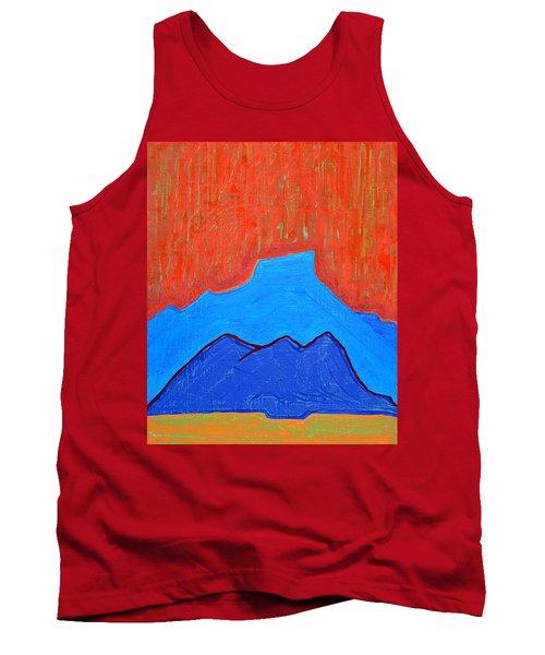 Cerro Pedernal Original Painting Sold Tank Top by Sol Luckman