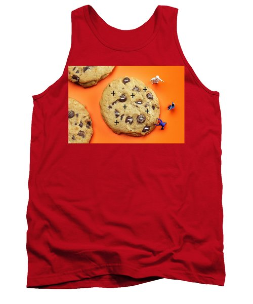 Tank Top featuring the photograph Chef Depicting Thomson Atomic Model By Cookies Food Physics by Paul Ge