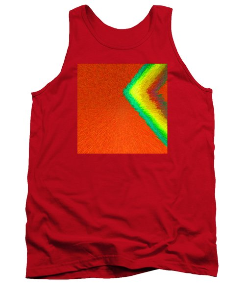 Chevron Rainbow Orange C2014 Tank Top