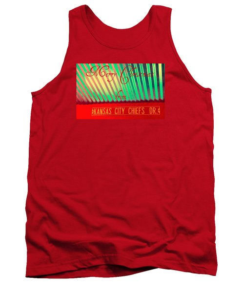 Chiefs Christmas Tank Top by Chris Berry