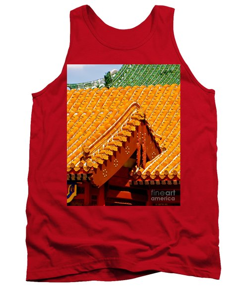 Tank Top featuring the photograph China Pavilion by Joy Hardee