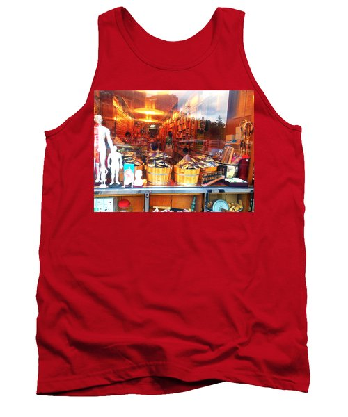 Chinatown Nyc Herb Shop Tank Top by Joan Reese