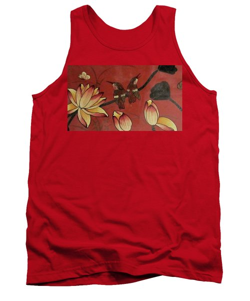 Chinese Red Lacquer Chest Detail Tank Top